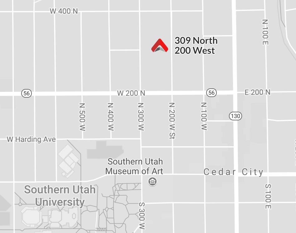 Location at 309 North 200 West, Cedar City, Utah